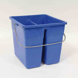 SEAU RECTANGULAIRE DOUBLE COMPARTARTIMENTS 11L BLEU ANSE FIL