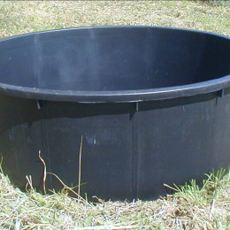 BAC D'HERBAGE ROND 275 LITRES NOIR